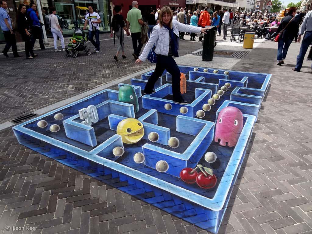 3d-street-art-pacman