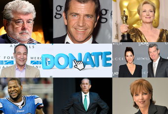 Celebs Donate