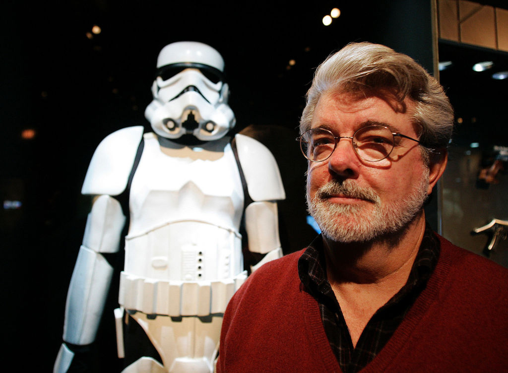 20th Century Fox gives George Lucas all merchandising rights.