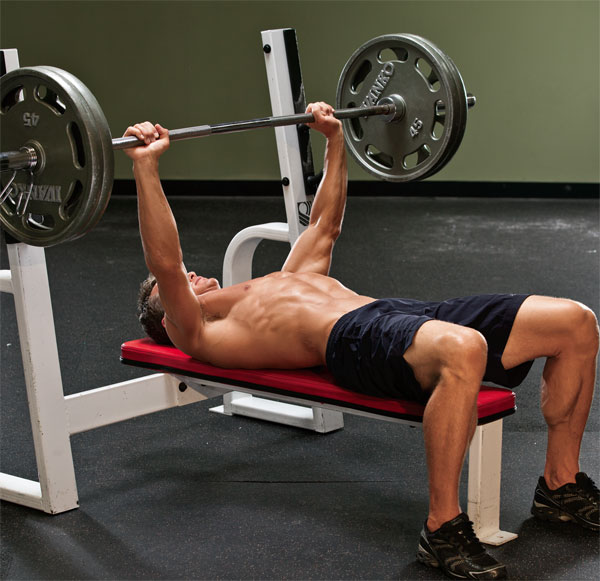 Hit the bench press