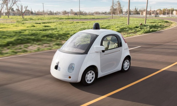 The Google Car is completely electric