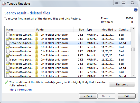 Download an undelete utility