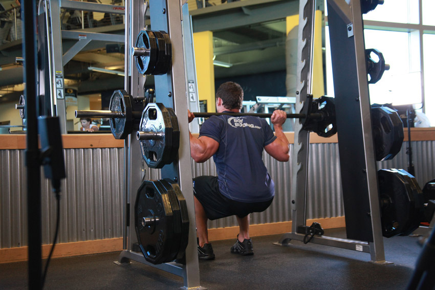 Smith Machine Assisted Squats