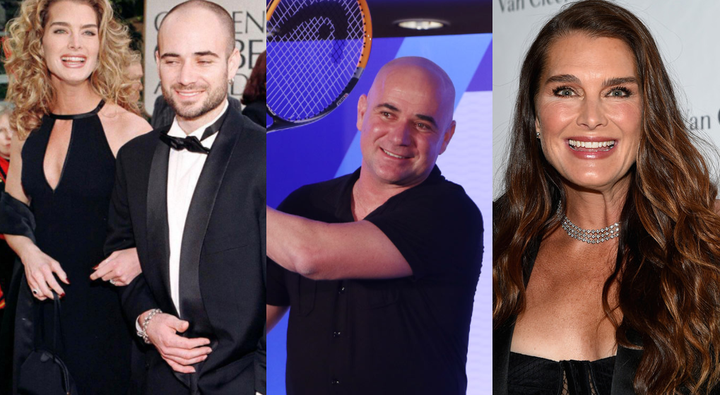 Andre Agassi and Brooke Shields.