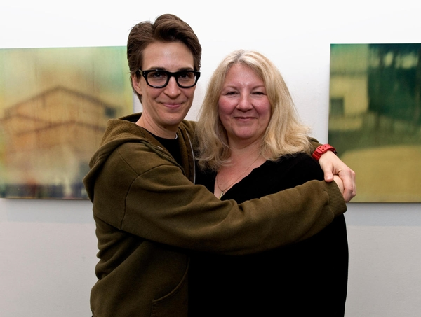 Rachel Maddow and Susan Mikula