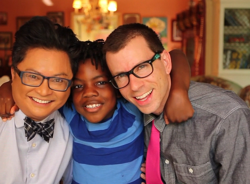Alec Mapa and Jamison Hebert