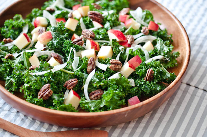 Kale and Apple Salad with Pistachio Hemp Clusters