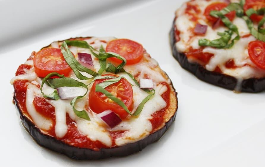 Grain Free Eggplant Pizza