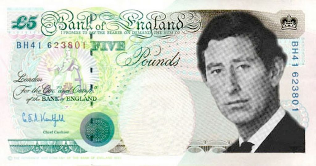Prince Charles' On Bank Notes