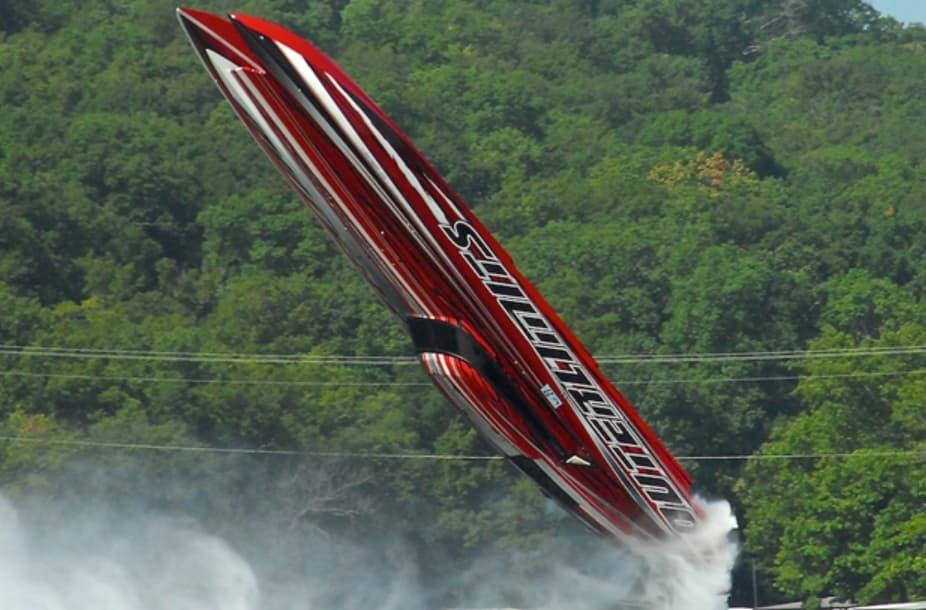 Powerboat Gets Airborne