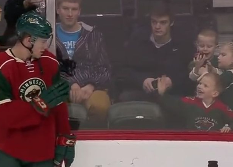Charlie Coyle and Young Fan